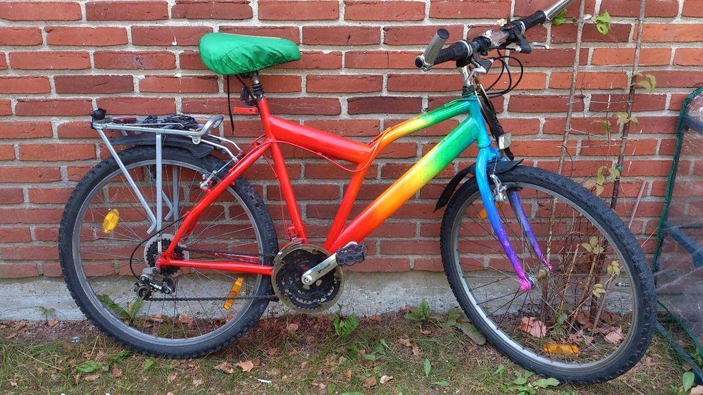 Как правильно покрасить велосипед баллончиком в домашних условиях