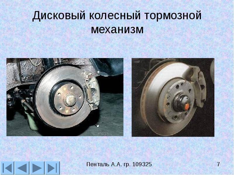 Устройство и особенности работы дисковых тормозов