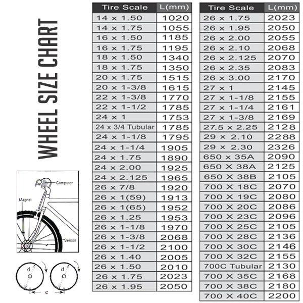 Как определить размер колеса велосипеда в дюймах