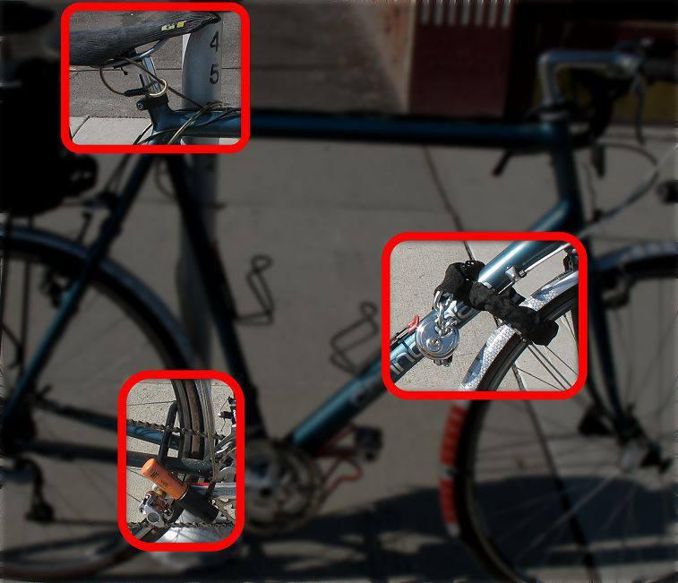Как правильно пристегивать велосипед