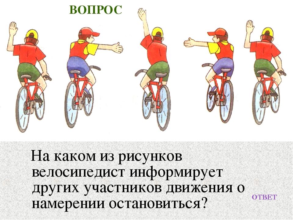Какие условные сигналы используют велосипедисты?