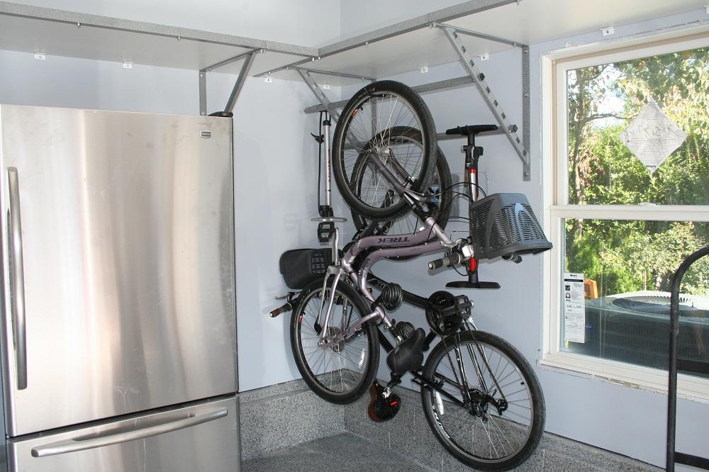 Как хранить велосипед в гараже - описание вариантов, полезные советы