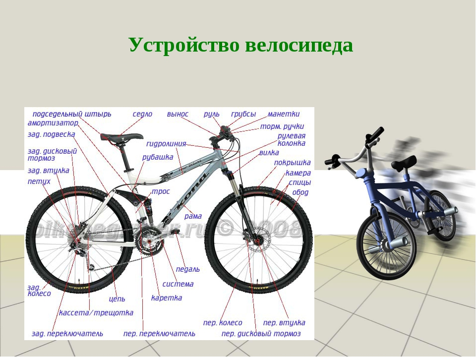 Из чего состоит велосипед. устройство велосипеда
