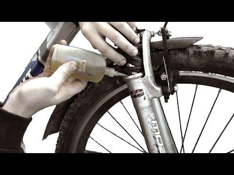 Замена масла в вилке велосипеда и настройка ее параметров