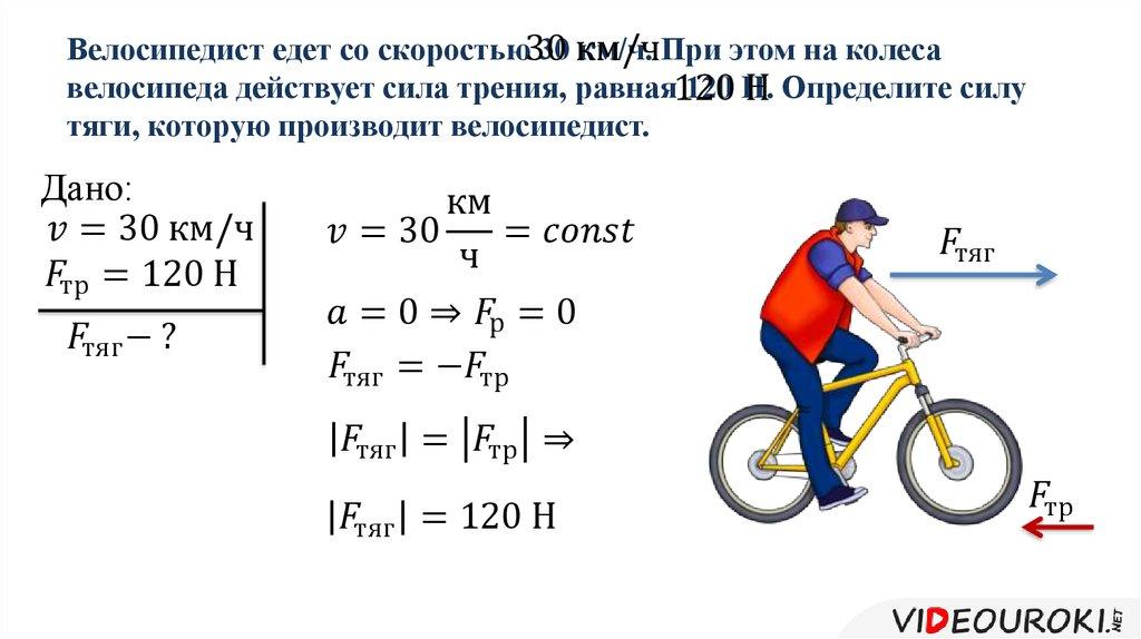 Что влияет на скорость велосипеда