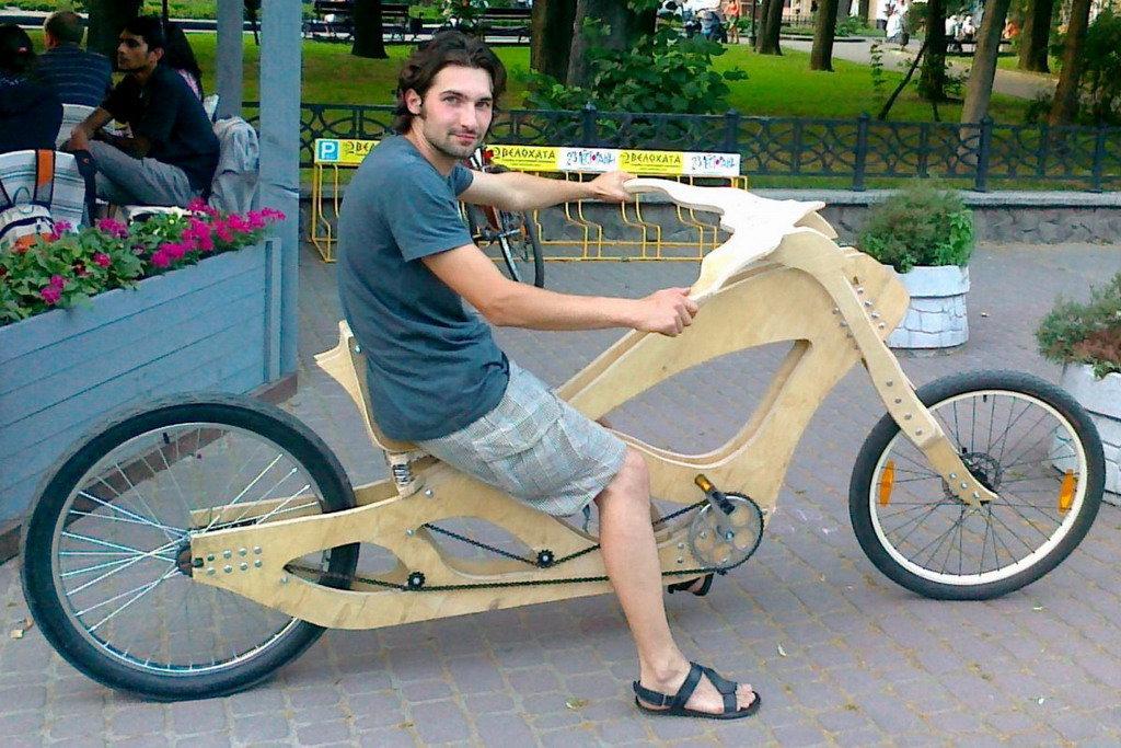 Как сделать деревянный велосипед своими руками