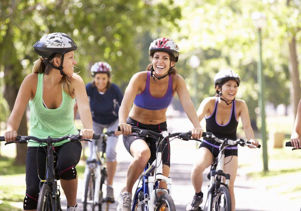 Езда на велосипеде для похудения - советы и упражнения