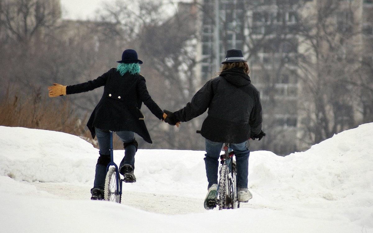 Особенности эксплуатации велосипеда зимой — обновлено