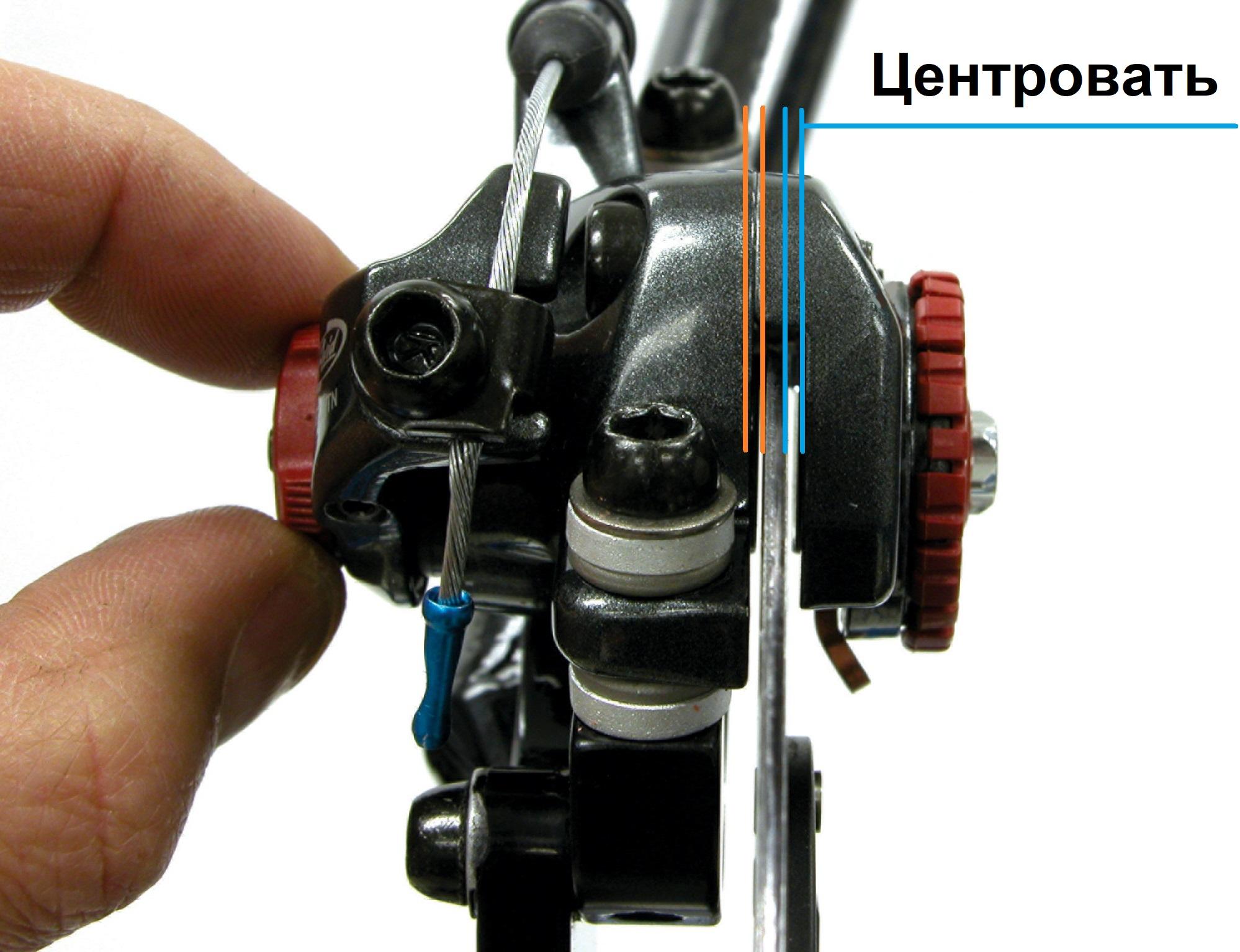 Задний тормоз на велосипеде