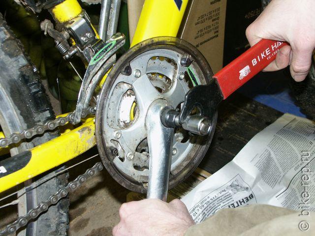 Как снять шатуны с велосипеда без съемника