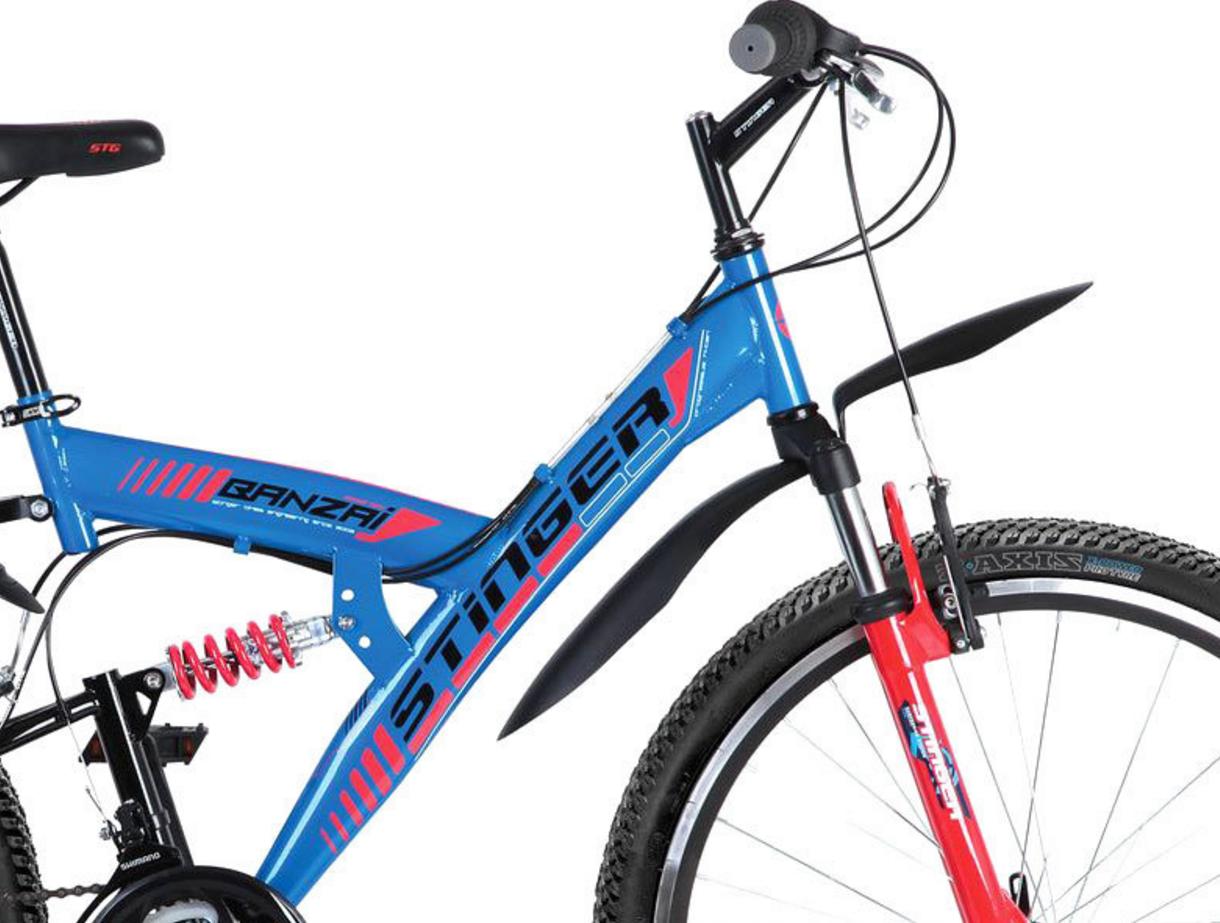 Сравнить велосипеды stinger highlander 100d 24 (2016) и stinger banzai 26 (2016)