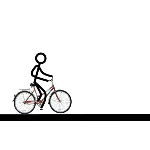 На велосипеде без рук   kryptobike tm