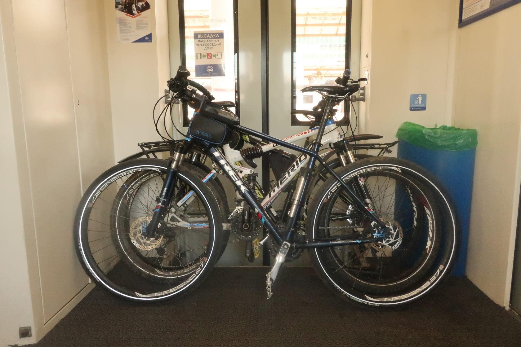 Перевозка велосипеда в поезде
