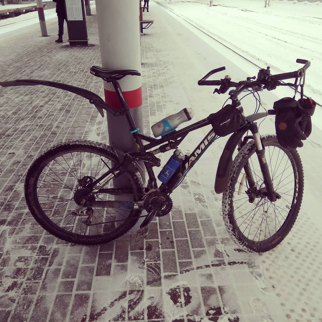 Как насладиться зимней ездой на велосипеде?