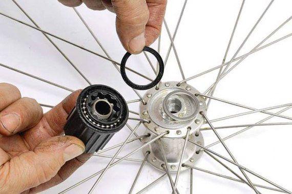 Сборка колеса велосипеда. часть 1