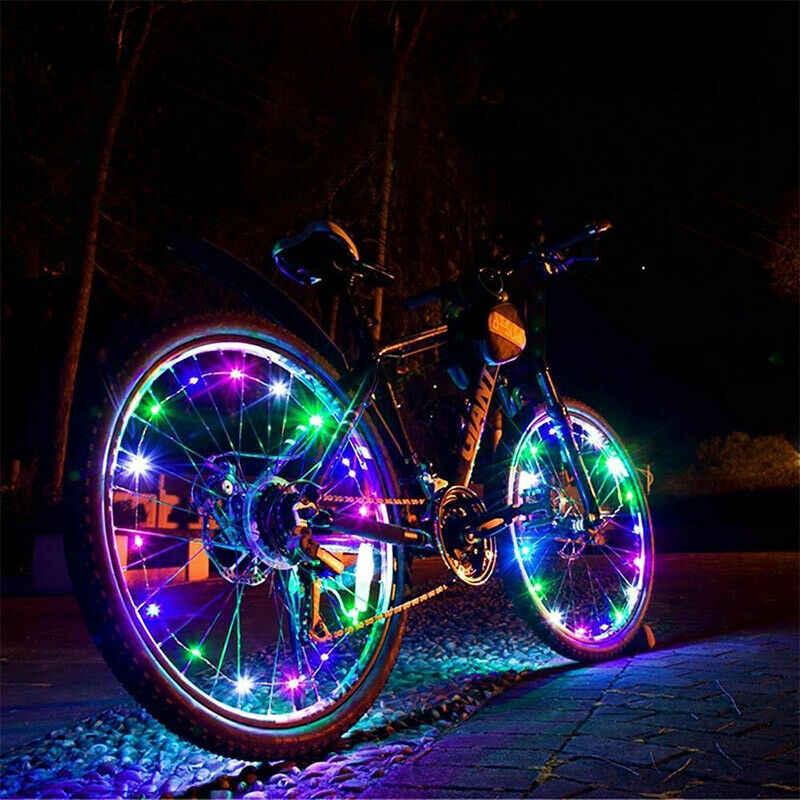 Подсветка для велосипеда на колеса и спицы, неоновая, светодиодная и led как сделать