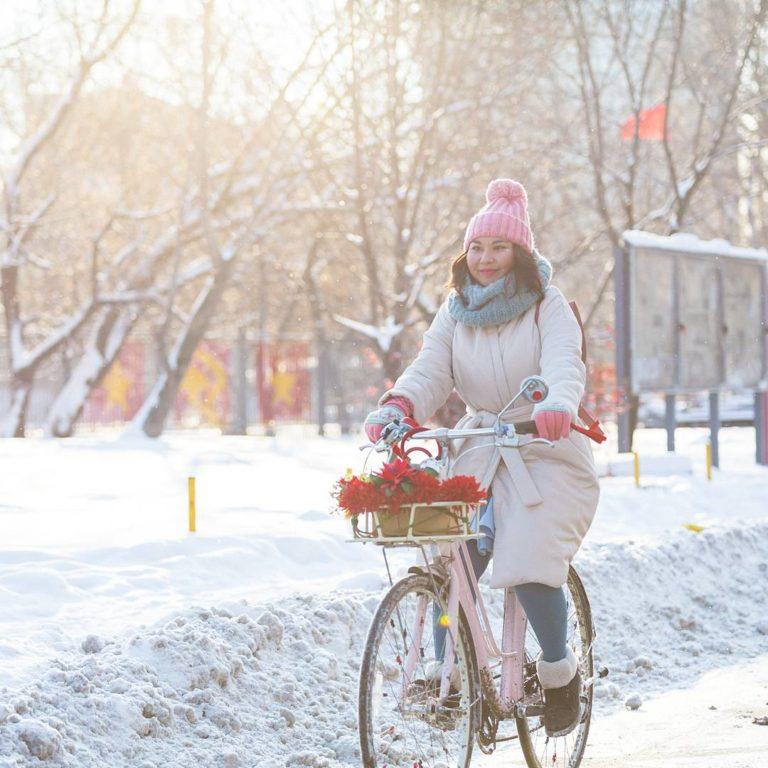 Езда на велосипеде зимой правильно и безопасно