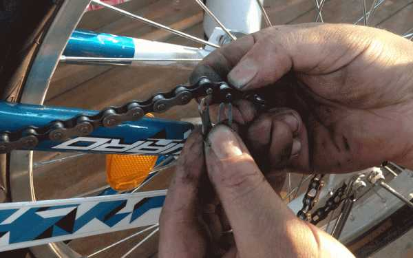 Как правильно установить цепь на скоростной велосипед