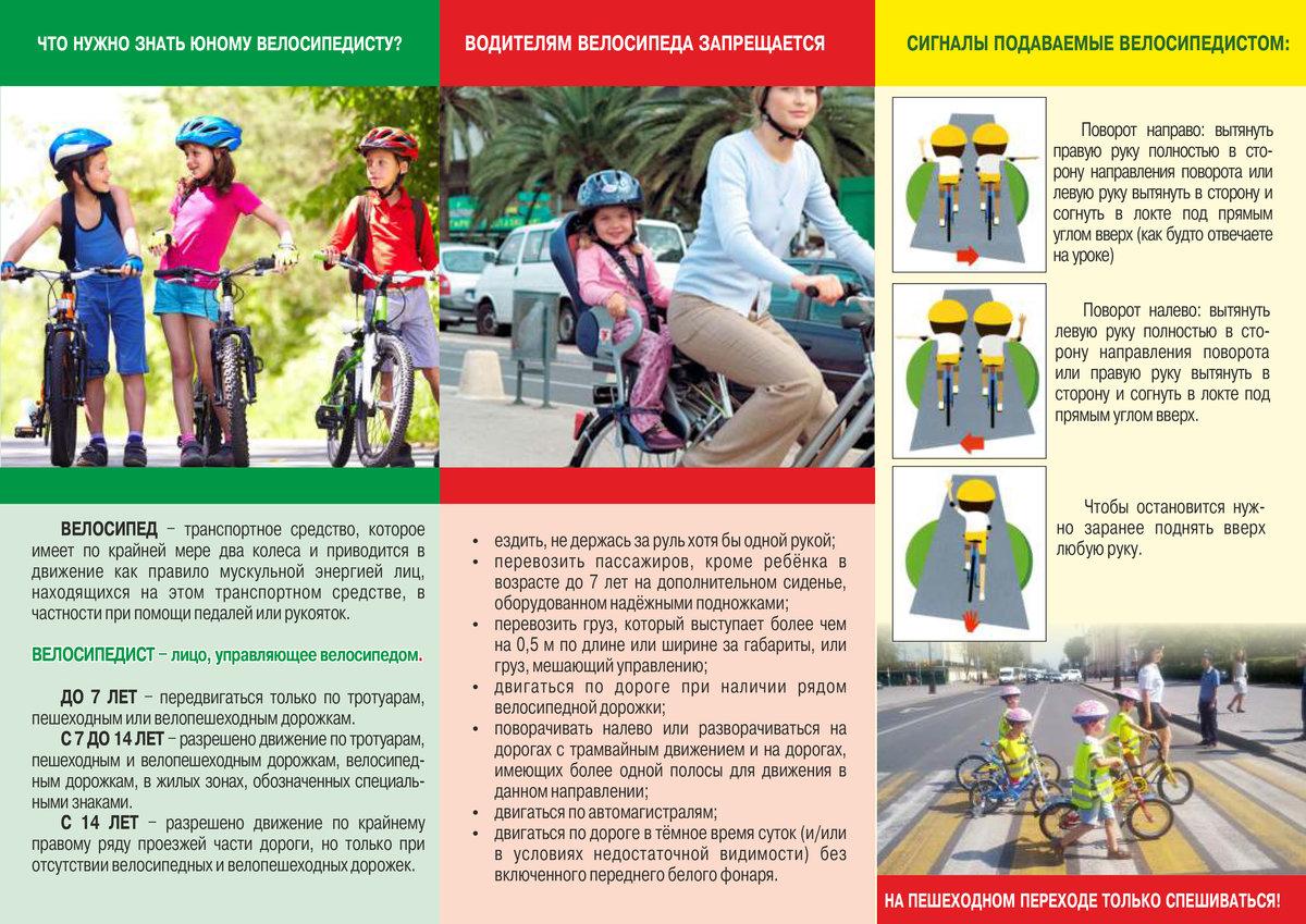 Какие существуют дорожные знаки для велосипедов