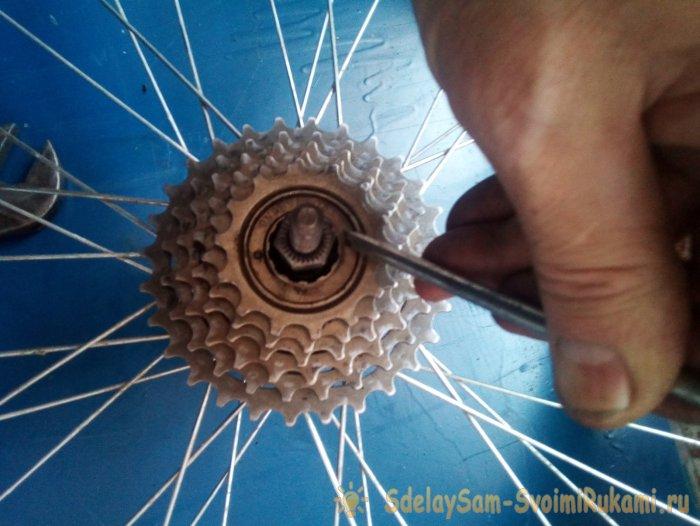 Особенности снятия трещотки с колеса велосипеда