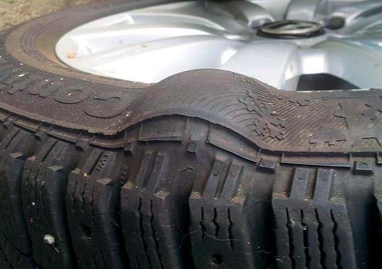 Как выполнить ремонт грыжи на шине самостоятельно