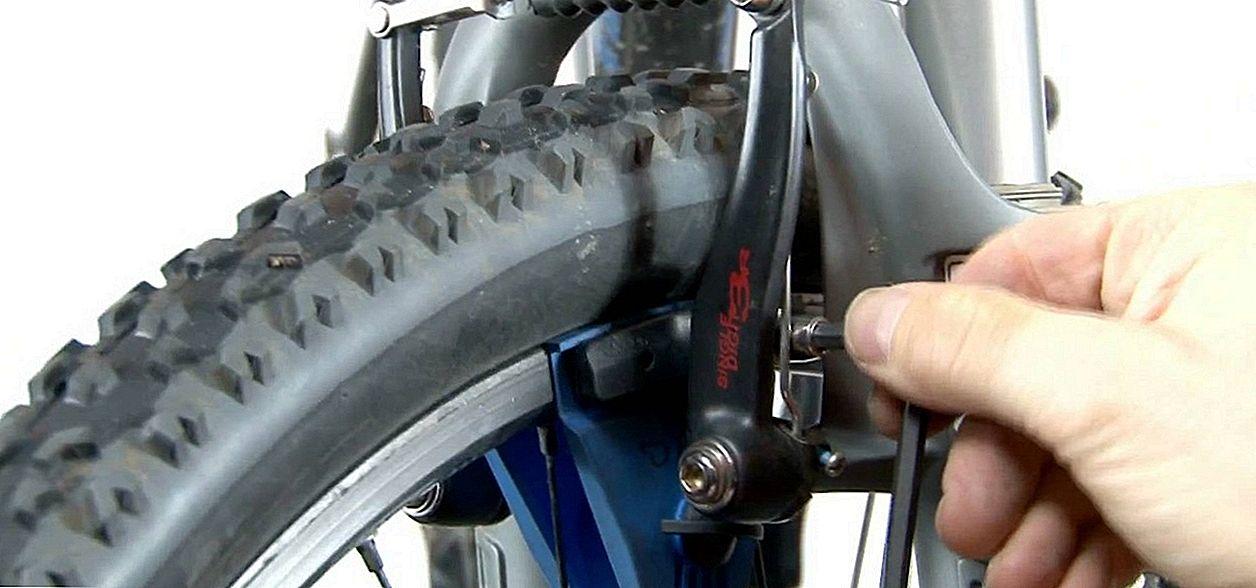 Свистят тормоза на велосипеде
