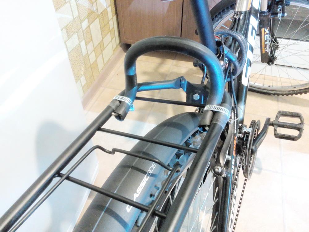 Виды велобагажников, установка багажника на велосипед с дисковыми тормозами
