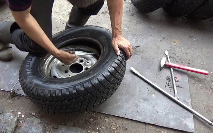 Разбортирование колеса своими руками - moy-instrument.ru - обзор инструмента и техники
