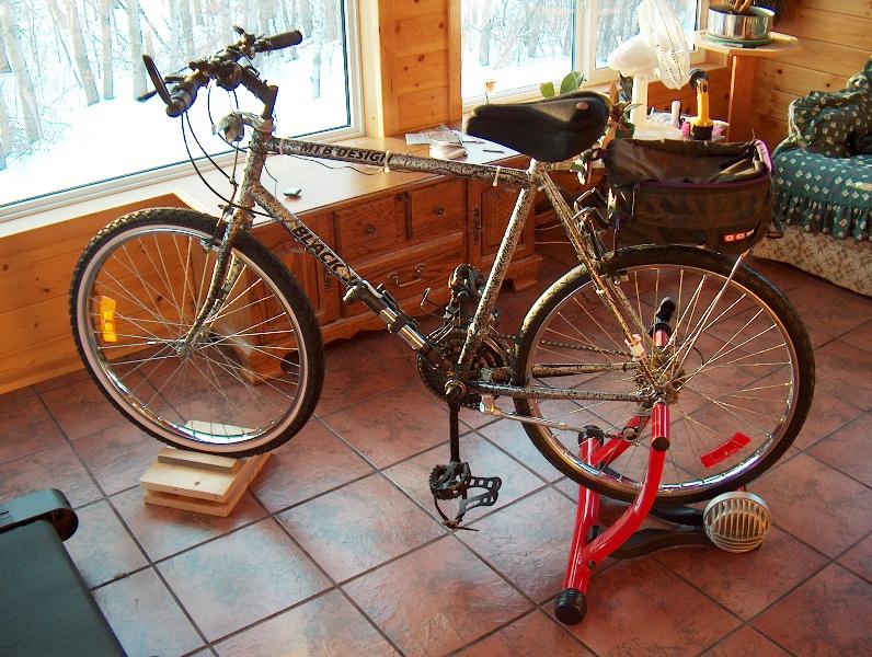 Превращение велосипеда в тренажёр