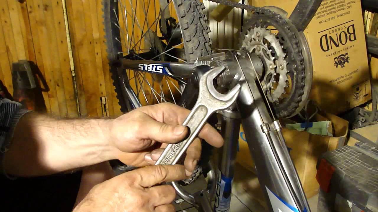 Правильное снятие каретки велосипеда