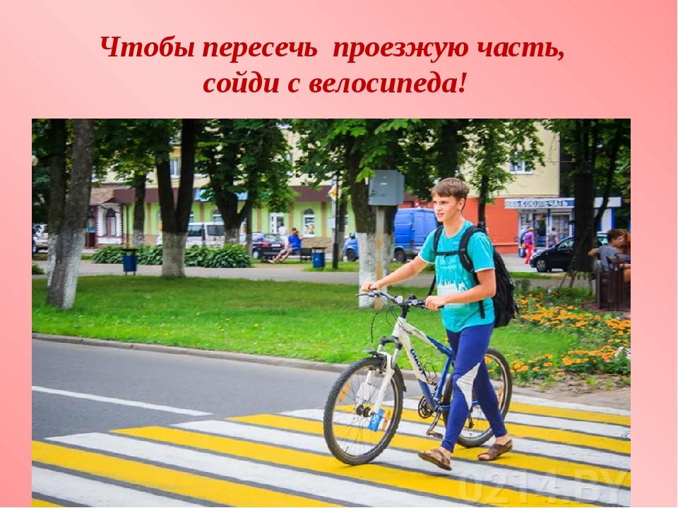 Можно ли на велосипеде переезжать пешеходный переход