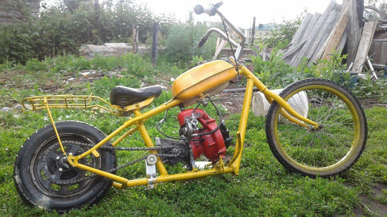 Велосипед, мопед, картинг, квадроцикл из бензопилы своими руками
