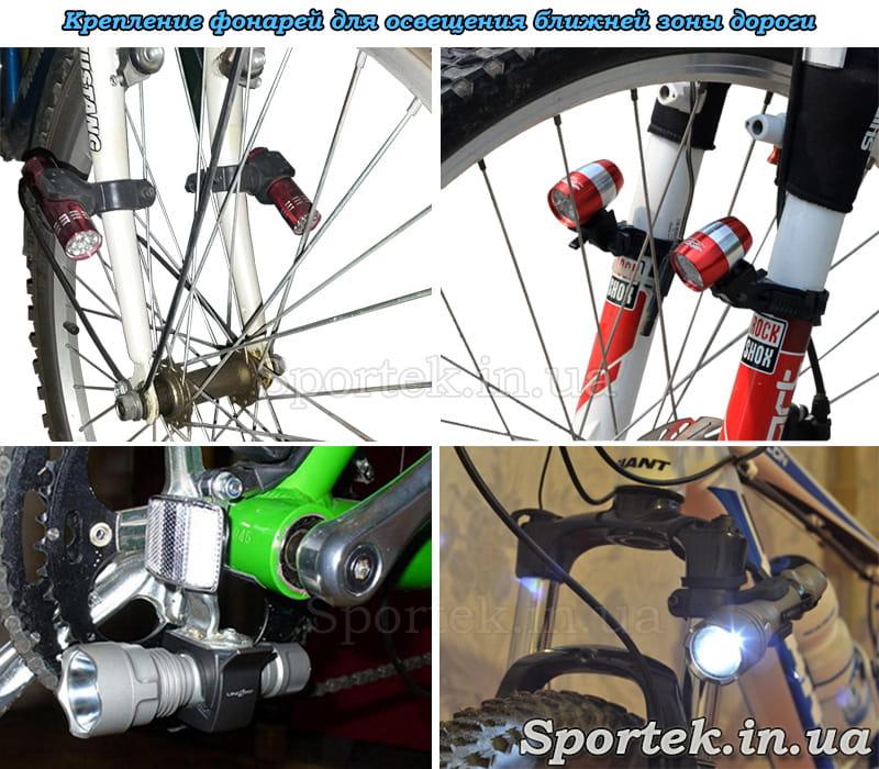 Свет для велосипеда, установка фонарей на колеса, виды креплений