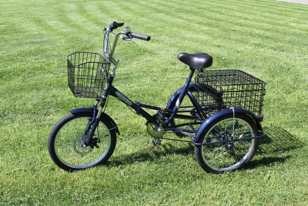Трёхколёсный велосипед с ручкой - недорогая цена