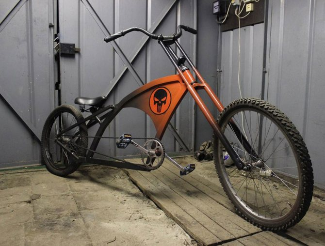 Как сделать самодельный мопед из велосипеда?