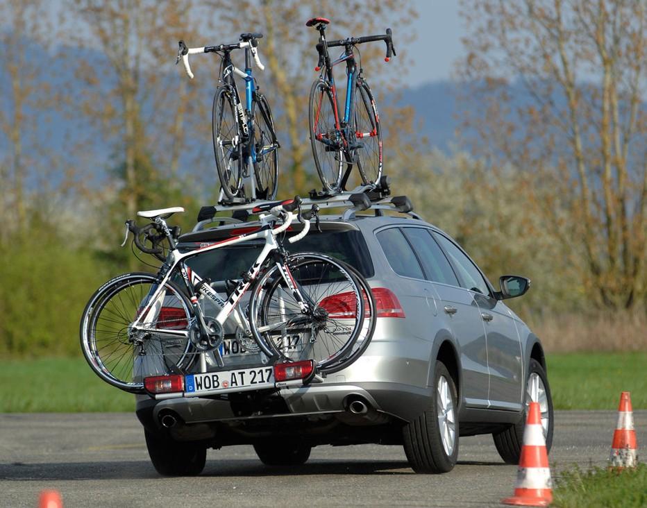 Транспортировка велосипеда на машине