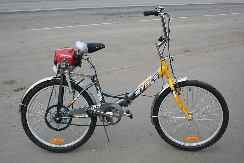Как установить двигатель от триммера на велосипед