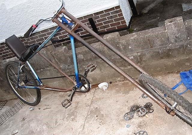 Самодельный одноколёсный прицеп для велосипеда с амортизатором