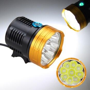 Как сделать светодиодную фару на велик из обычного фонарика