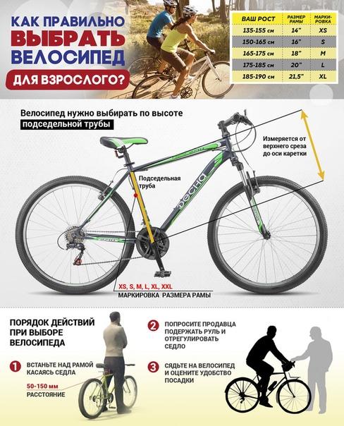 Подбор рамы велосипеда в зависимости от роста | выбор велосипеда | veloprofy.com