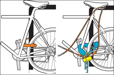 Как пристегнуть велосипед чтобы не украли