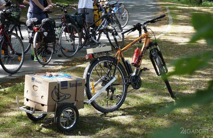 Виды прицепов для велосипеда
