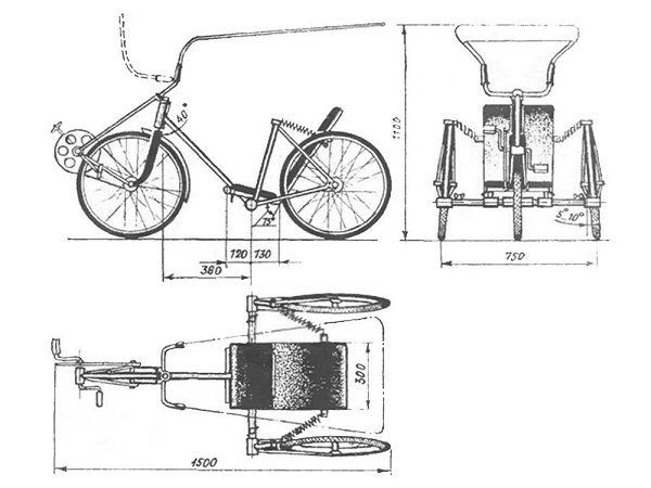 Трехколесный велосипед своими руками, пошаговая инструкция по созданию