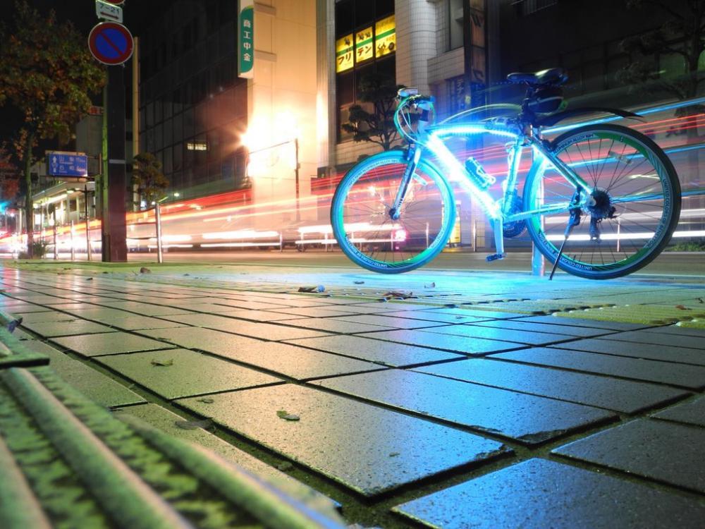Подсветка колес байка