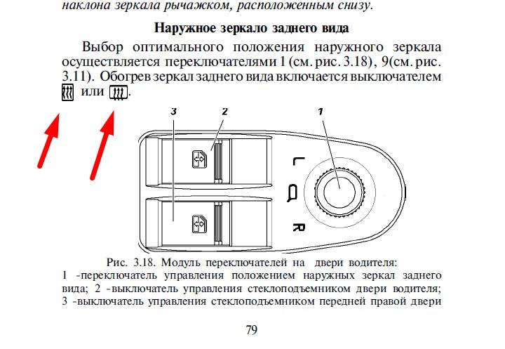 Настройка зеркал заднего вида в легковом автомобиле