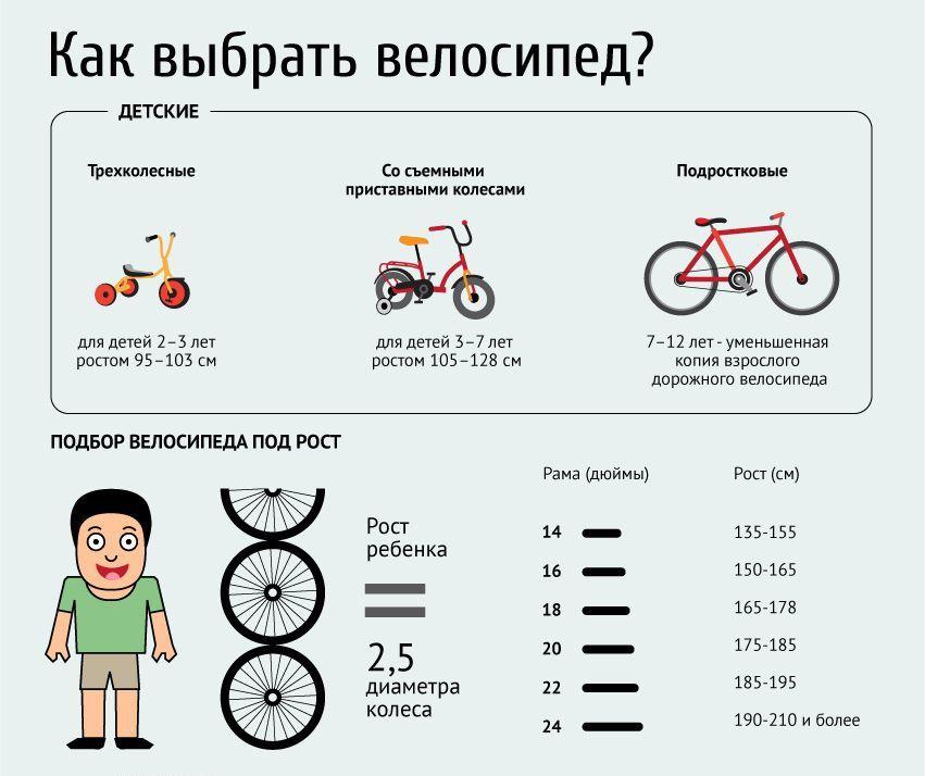 Как выбрать велосипед по росту? подбор велосипеда по росту