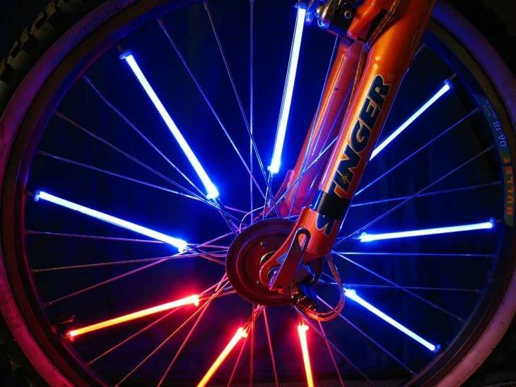 Подсветка велосипеда светодиодной лентой своими руками