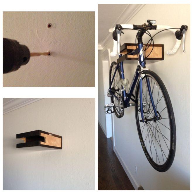 Подвес для велосипеда на потолок — только ремонт своими руками в квартире: фото, видео, инструкции