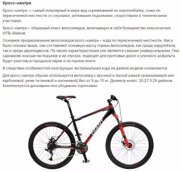 Из каких деталей состоит велосипед?