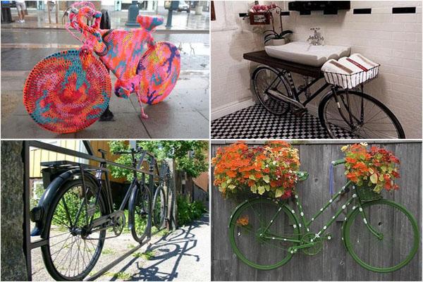 9 практичных вещей, которые можно сделать из старых велосипедных колёс